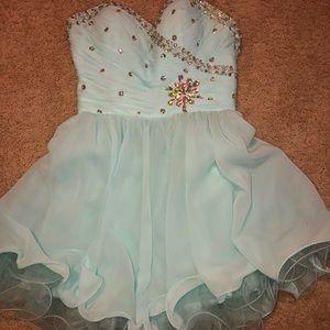Dresses & Skirts - Light blue homecoming/prom dress